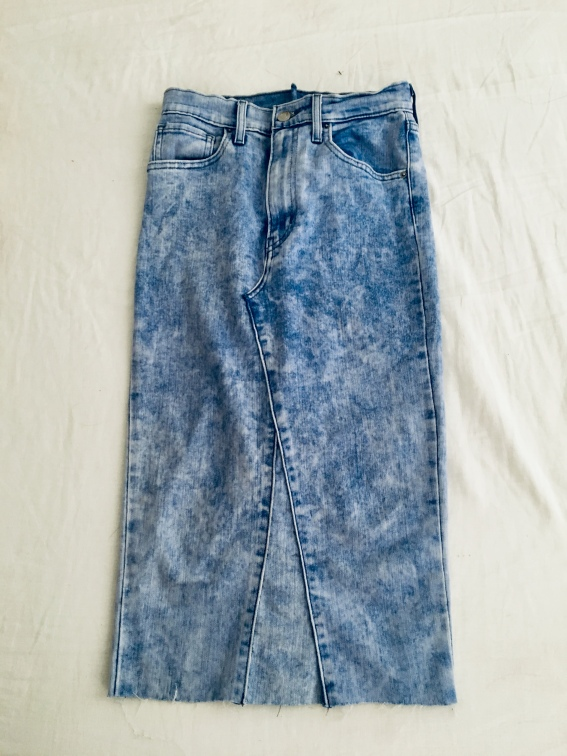 8. New denim skirt is ready to roll!
