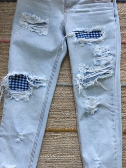 9. New distressed jeans are all done and ready to wear!
