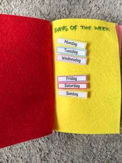 11. Create your categories - days of the week on page 1